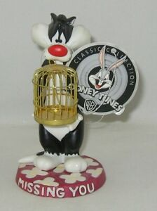 "Goebel Looney Tunes SYLVESTER Figurine ""MISSING YOU"" NO Box w/Tag/COA"
