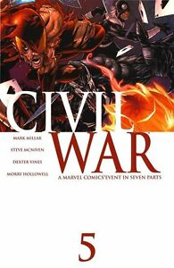 MARK MILLAR CIVIL WAR (2006) #5 1ST PRINT! CAPT AMERICA 3 MOVIE!