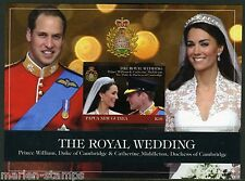 PAPUA NEW GUINEA MARRIAGE OF KATE MIDDLETON & PRINCE WILLIAM S/S IMPERF MINT NH