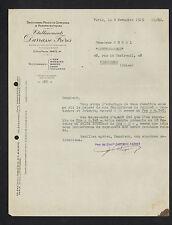 """PARIS (IV°) DROGUERIES , PRODUIT CHIMIQUE & PHAMACEUTIQUE """"DARRASSE Freres"""" 1929"""
