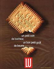PUBLICITE ADVERTISING   1965   LU   petit beurre un coin de bonheur