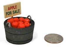 "Barrel/Basket of Apples ""For Sale"" Dollhouse Miniature Fairy Garden 2316-26"
