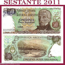 ARGENTINA  - 50 PESOS ARGENTINOS 1983 serie A  - P. 314a    - FDS/UNC