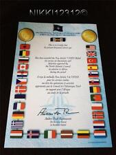 NATO AFRICA MEDAL CERTIFICATE IN MINT CONDITION