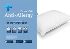 New Anti Allergy Hollow Fibre Pillows Anti Dustmite Anti Bugs Treated Protection