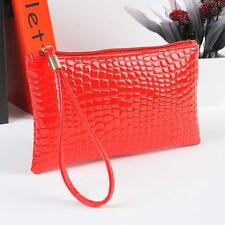 Casual Women Crocodile Leather Clutch Handbag Bag Coin Purse Wallet Red Xmas