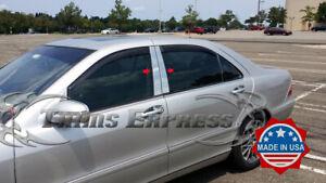 1998-2006 Mercedes S-Class W220 4Pc Chrome Pillar Post Stainless Steel Trim