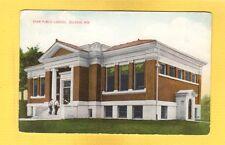 Delavan,Walworth County,WI Wisconsin, Aram Public Library used 1909