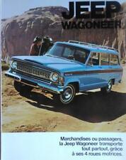 Jeep Wagoneer depliant brochure originale in lingua francese