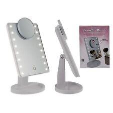 16 LED Luce Illuminato Make Up Cosmetici Vanity Specchio Lente D'ingrandimento X5 Tavolo Stand