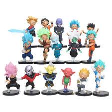 DRAGON BALL SUPER  - SET 16 FIGURAS: Goku Vegeta Blue, Zamasu, Jiren, Hit, Black