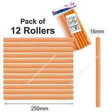 Bendy Rollers Hair Hairdressing Curling PACK OF 12 ORANGE ROLLERS Twist Wave