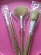 Bare Escentuals i.d. Champagne Gold Handle Makeup Brush Set Of 4 - Authentic Nip