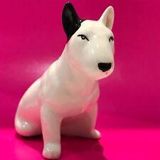 Bull Terrier porcelain figurine dog Russia fighting breed black ear