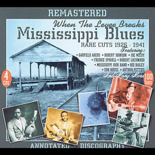 When the Levee Breaks: Mississippi Blues - Rare Cuts 1926-41 [Remaster] by Various Artists (CD, Feb-2007, 4 Discs, JSP (UK))