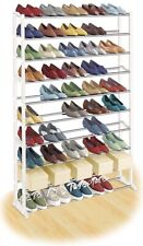 Lynx 50 Pair Shoe Rack, metal and white plastic. Never used still in open box.