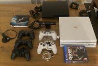 White Playstation 4 PRO AND PS3 Bundle Including Games, Camera And extra Pads
