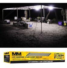 LED 12v Camping Light Bar Kit Waterproof 4 Lights & Accessories 5500k Illuminate