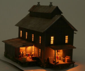N Scale Custom Craftsman Type Built Up Warehouse Building Lighted SUPER DETAILED