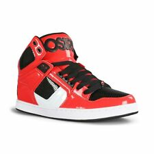 Osiris NYC 83 CLK High Top Skate Shoes - Red / White / Black