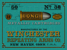 """24""""X18"""" Reproduced Vintage Winchester .38 Cal Ammo Print on Graphic Canvas"""