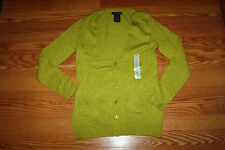 NEW Womens Grace Elements Digital Green Cardigan Sweater Size S Small