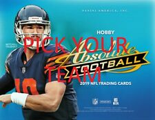 2019 Panini Absolute Football Card Team Sets w/ RC PICK YOUR TEAM FROM THE LIST