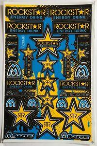 27 Rockstar Energy Drink Stickers Dirt Pit Bike MTB Motocross Helmet BMX Quad