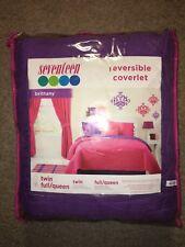 Seventeen ~Brittany Purple / Pink Reversible Coverlet Blanket ~Full / Queen Size