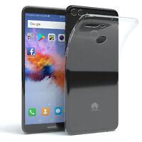 EAZY CASE Huawei Y9 2018 Hülle Silikon Cover Handy Tasche Slim Klar Transparent