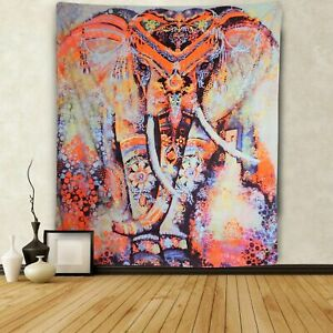 Indian Elephant Tapestry Wall Hanging Hippie Throw Bohemian Mandala Tapestry New
