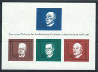 Allemagne - RFA Bloc N°3** (MNH) 1968 - Hommes d'état Européens