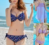 New Ladies Three Piece Bikini Set Swimdress Swimwear AU Size 6 8 10 12 14 #5151