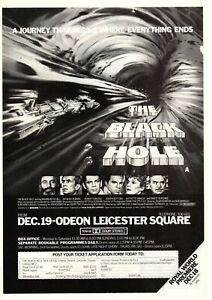 A4 Advert Black Hole 1979 Maximilian Schell Anthony Perkins Ernest Borgnine