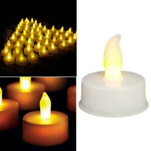 Flameless LED Candles Battery Operated Tea Lights Flickering Wedding Decor F5L9