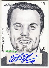 2014 POP CENTURY MATTHEW AMOR SKETCH AUTO: ADAM BALDWIN #1/1 OF ONE AUTOGRAPH