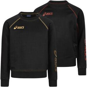 ASICS Alpha Jungen Kinder Mode Oberteil Hoodie Sweatshirt 2024XZ schwarz neu