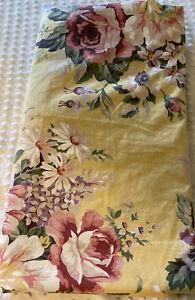 Ralph Lauren Twin Sheet Yellow Pink Sophie Brooke