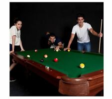 8-Foot Billiard Pool Table Set Game Room Furniture w/ 2 Cue Sticks and Balls Kit