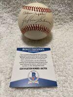 Warren Spahn & Johnny Sain Autographed Signed Vintage ONL Baseball Beckett COA