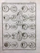 Espagne Monnaies Romaines Antiques des Villes d'Espagne 1725 España Numismatique