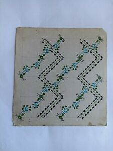 Hand made design fabric printing textile design artwork