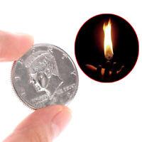 Amazing Fire Coin Magic Tricks Joke Magic Props Close Up Magic Show Party TIJUS