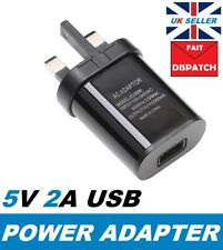 USB Port UK Plug 5V 2A Wall Charger Home Travel AC Power Adapter For iPhone iPad
