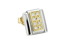Nomination Ohrring CLASSIC PAVE Edelstahl 18K-Gold Cubic Zirconia 038302 S9#76