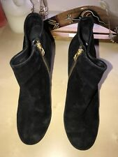 Steve Madden Black Suede Ankle Boots - Size 8