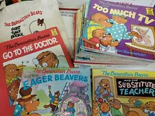 21 Vtg THE BERENSTAIN BEARS First Time Book Lot Brenstein Canvas bag (g1)