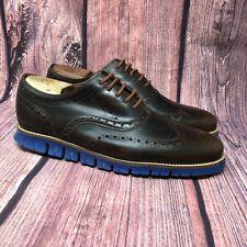 Cole Haan Zerogrand Woodbury Men's Brown Leather Patina Wingtip Oxford Sz 10.5 W