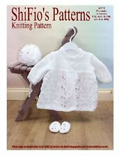 KNITTING PATTERN FOR BABY MATINEE JACKET in 2 sizes #73 by ShiFio's Patterns