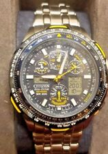CITIZEN Blue Angels Skyhawk  Eco Drive Men's Watch Radio Controlled JY0040-59L